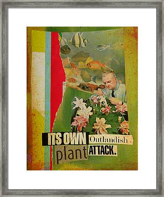 It's Own Outlandish Plant Attack Framed Print by Adam Kissel