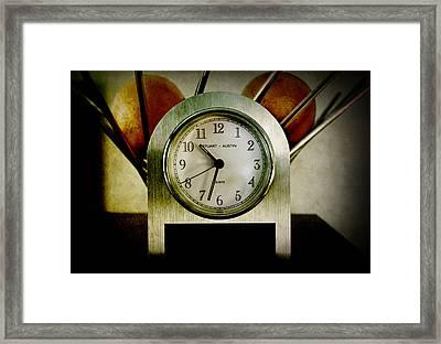 It's Time... Framed Print