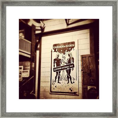 It's Worth A Look. Framed Print