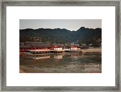 Itsukushima Shrine On Miyajima Island Framed Print by Ei Katsumata