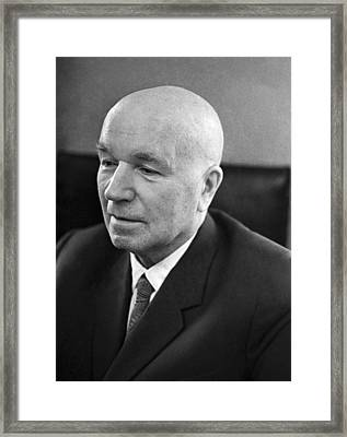 Ivan Vinogradov, Soviet Mathematician Framed Print by Ria Novosti