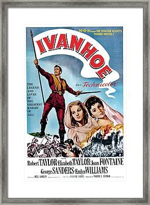 Ivanhoe, Robert Taylor, Joan Fontaine Framed Print