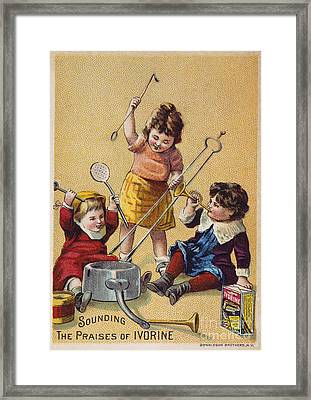 Ivorine Trade Card, C1880 Framed Print by Granger