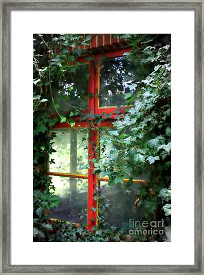 Ivy Embrace Framed Print by Carol Groenen