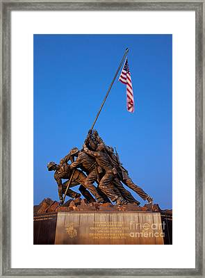 Iwo Jima Memorial Framed Print by Brian Jannsen