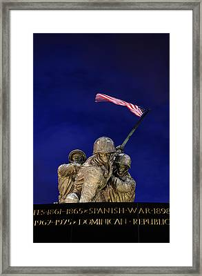 Iwo Jima Memorial Front View Framed Print by Metro DC Photography