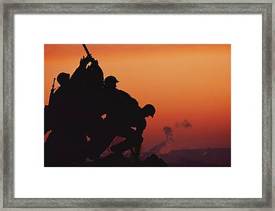Iwo Jima Monument Partial View Framed Print by Anthony Peritore