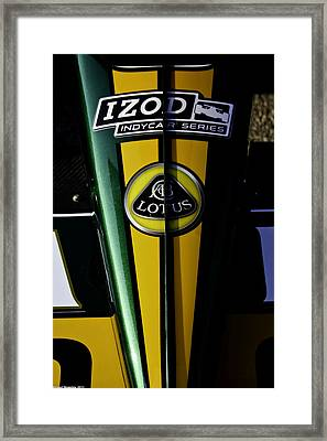 Framed Print featuring the photograph Izod Lotus by Michael Nowotny