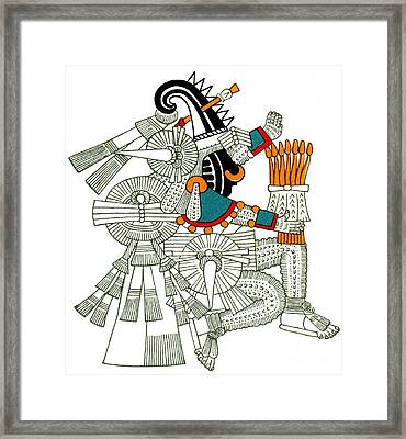 Iztlacoliuhqui, Aztec God Of Frost Framed Print by Photo Researchers
