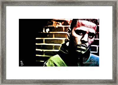 J Cole Framed Print by The DigArtisT