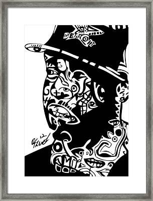 J Dilla Framed Print by Kamoni Khem