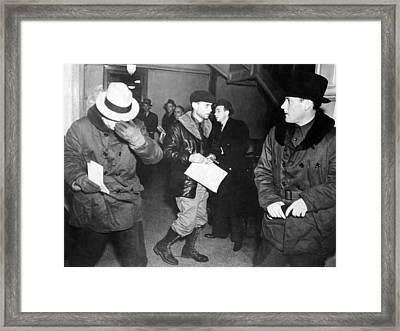 J. Edgar Hoover Arriving In St. Paul Framed Print by Everett