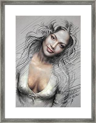 J L0 Framed Print by Ylli Haruni
