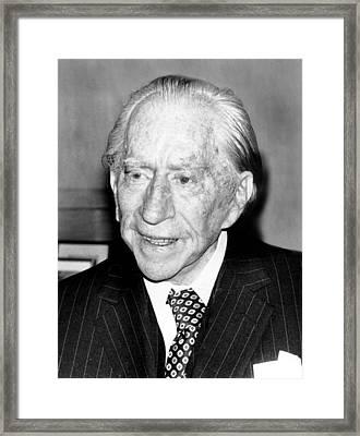 J. Paul Getty, 82, 5121975 Framed Print by Everett
