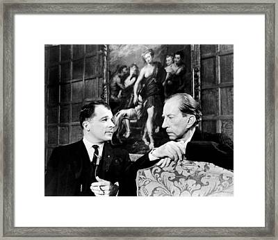 J. Paul Getty, And Lee Bailey, 1967 Framed Print by Everett