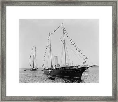 J. Pierpoint Morgans Second Yacht Framed Print by Everett
