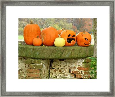 Framed Print featuring the photograph Jack-0-lanterns by Lainie Wrightson
