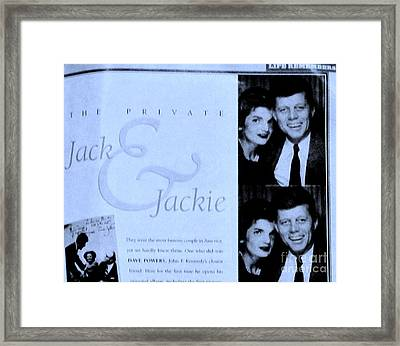 Jack And Jackie In Life Magazine Framed Print by Marsha Heiken