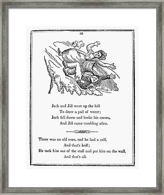 Jack And Jill, 1833 Framed Print