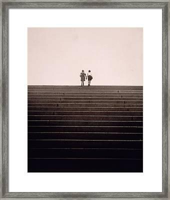 Jack And Jill? Framed Print by Victor Keppler