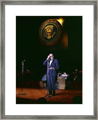 Jack Benny Performs For A Democratic Framed Print by Everett