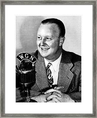 Jack Brickhouse, Sportscaster, Circa Framed Print