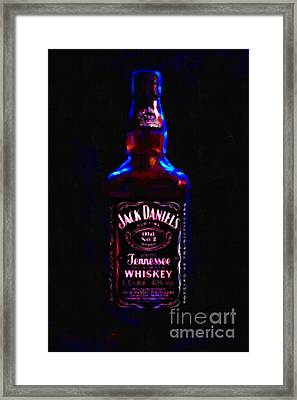 Jack Daniel's Tennessee Whiskey 80 Proof - Version 2 - Painterly Framed Print by Wingsdomain Art and Photography