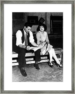 Jack Dempsey And His Wife, Estelle Framed Print by Everett