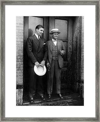 Jack Dempsey And Tex Richard, New York Framed Print by Everett