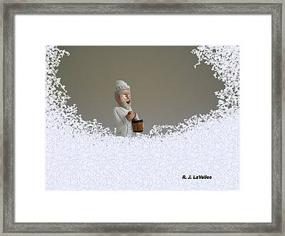Jack Frost... Caught In The Act. Framed Print