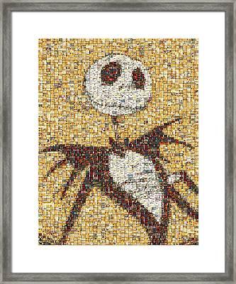 Jack Halloween Mosaic Framed Print by Paul Van Scott