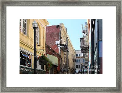 Jack Kerouac Street San Francisco Framed Print by Wingsdomain Art and Photography