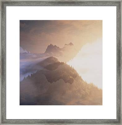 Jack Kerouac View Of Mount Hozomeen Framed Print by David Pluth
