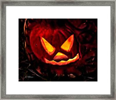 Jack-o-lantern Framed Print by Christopher Holmes