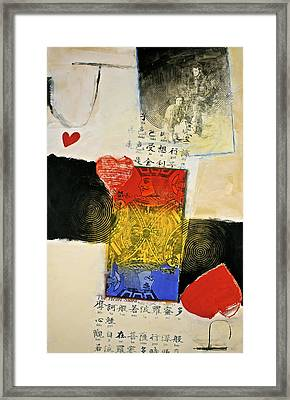 Framed Print featuring the painting Jack Of Hearts 46-52 by Cliff Spohn