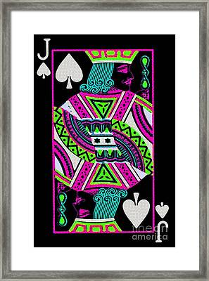 Jack Of Spades Framed Print by Wingsdomain Art and Photography