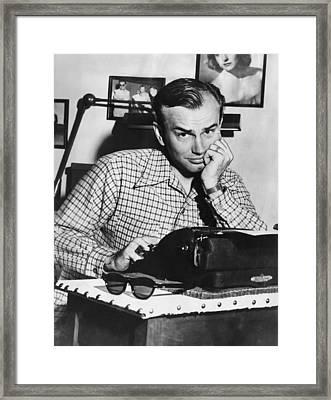 Jack Paar 1918-2004, American Radio Framed Print by Everett