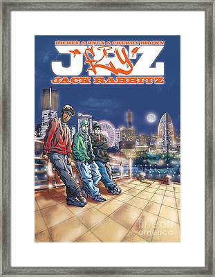 Jack Rabbitz Fly Framed Print by Tuan HollaBack