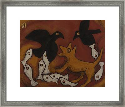 Jackal Dream Framed Print by Sophy White
