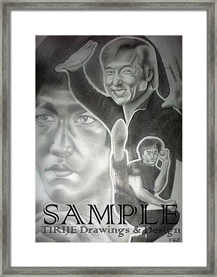 Jackie Chan And Bruce Framed Print by Rick Hill