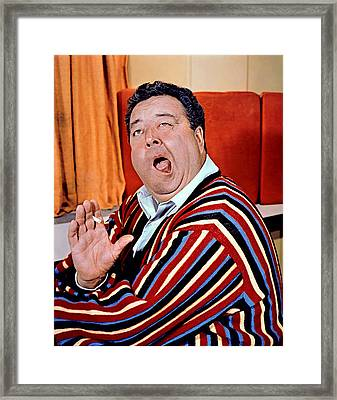 Jackie Gleason, 1950s Framed Print by Everett