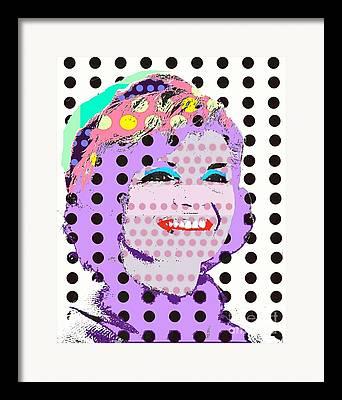 Jackie O Digital Art Framed Prints