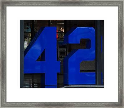 Jackie Robinson 42 Framed Print by Rob Hans