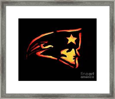 Jacko Lantern Patriots Framed Print