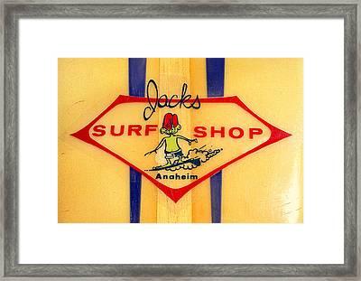 Jacks Surf Shop Framed Print