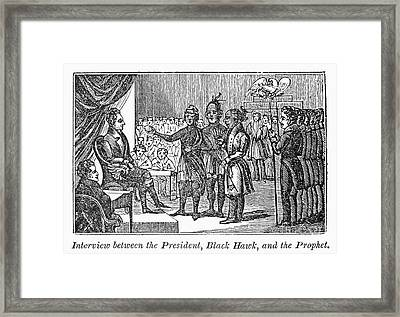 Jackson And Native Americans Framed Print by Granger