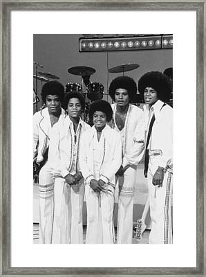 Jackson Five, The Group Portrait Shot Framed Print