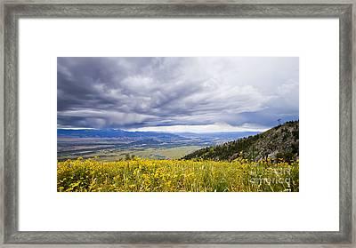 Jackson Hole Rain Clouds Framed Print by Dustin K Ryan