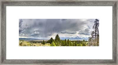 Jackson Hole Thunderstorms Framed Print by Dustin K Ryan