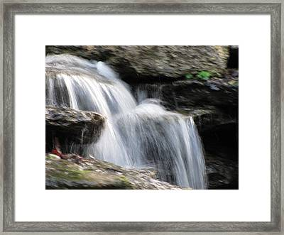 Framed Print featuring the photograph Jackson Hole Waterfall by Shawn Hughes